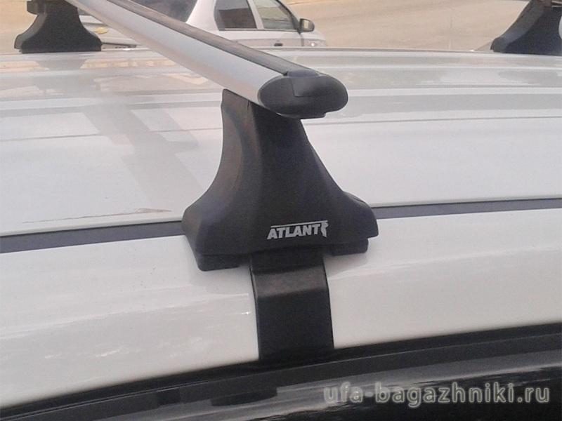 Багажник на крышу Chery Tiggo 5 (T21) 2014-..., гладкая крыша, аэродинамические дуги, опора Е