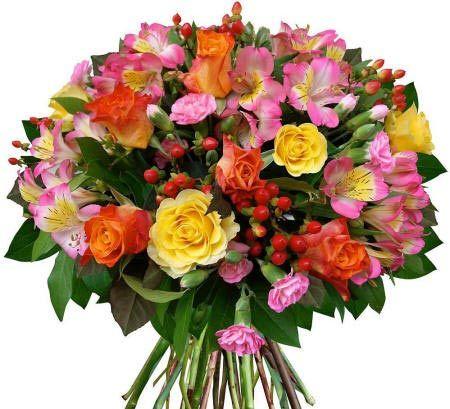 Букет из кенийских роз «Цветочный фейерверк»