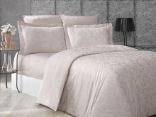 """Комплект постельного белья """"KARNA"""" Сатин-жаккард  GRETA  евро (капучино)  Арт.2995-1"""