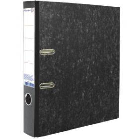 Папка-регистратор 50мм ATTOMEX мрамор черн метал окантовка /25 3090404