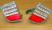 Задние противотуманные фары диодные (Прозрачные с красным катафотом) для Toyota Land Cruiser 200