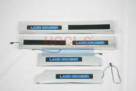 Накладки на пороги с подсветкой (Тип 4) для Toyota Land Cruiser 200