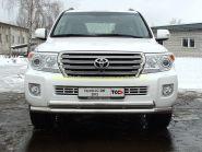 Защита переднего бампера 76х75 мм двойная овальная (TOYLC20012-01) для Toyota Land Cruiser 200 2012