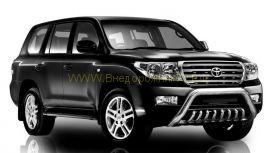 Защита передняя с защитой картера в комплекте 76+43 мм низкая (FBU2NJ2076P/43) для Toyota Land Cruiser 200 2008 -