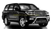 Защита передняя с защитой картера в комплекте 76+43 мм низкая (FBU2NJ2076P/43) для Toyota Land Cruiser 200 2012 -