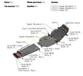 Защита Картера, КПП, Раздатки (Сталь 2 мм) для для Lexus LX