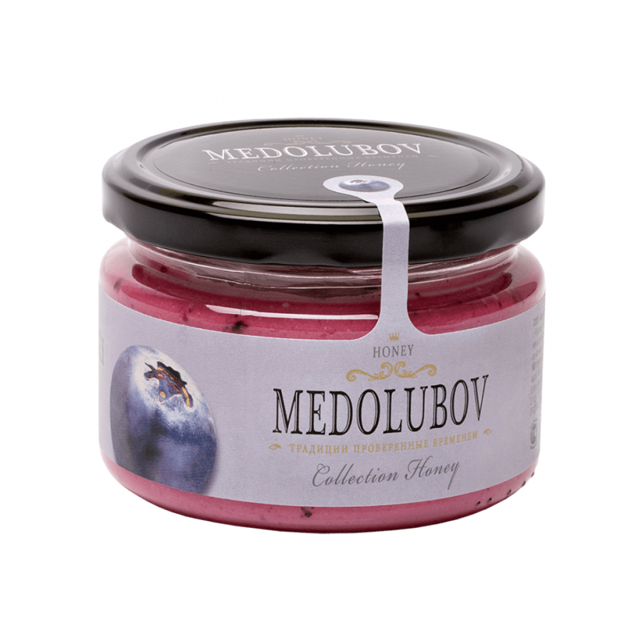 Крем-мёд Medolubov с черникой 250мл