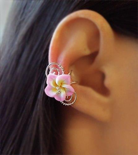 """Кафф """"Гавайский цветок"""" нежно-розовый"""