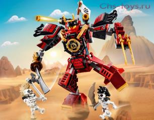 Конструктор LELE Ninja Робот-самурай 31181  (Аналог Lego Ninjago 70665) 180 дет