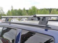 Багажник на крышу Subaru Forester II 2002-2008, Lux, аэродинамические дуги (53 мм)