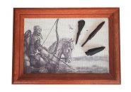 Древние наконечники стрел. оформленные на холсте, в деревянной раме №2