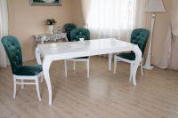 Белый стол Ар деко