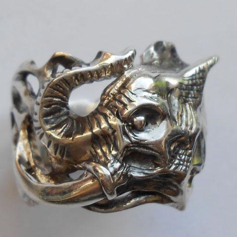 """Кольцо  """"Слон"""" латунь и покрытие под серебро"""