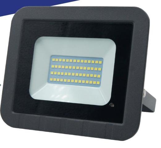 General прожектор св/д с микроволн. датчик+фотосенсор 30W(2450) SMD 6K 135x100x28 IP65 GTAB 403600