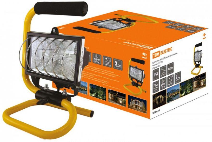 TDM прожектор ИО150П (переноска) галоген.черный 150W IP54 без лампы (20!) SQ0302-0013