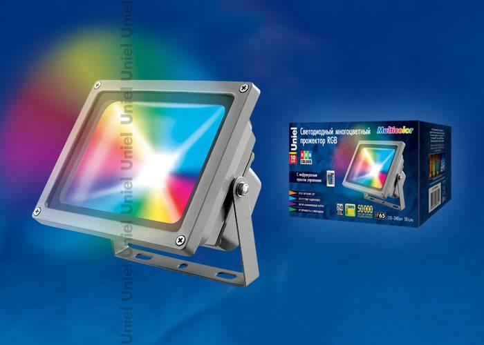 Светодиодный прожектор Uniel 30W ULF-S01-30W/RGB/RC
