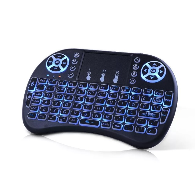 Беспроводная mini-клавиатура I8-L с тачпадом, с подсветкой на аккумуляторе, черная