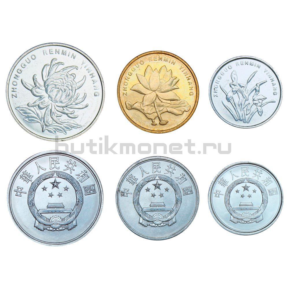 Набор монет 1986-2014 Китай (6 штук)