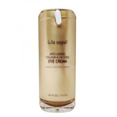 La Soyul Anti-Aging Collagen & 24K Gold Антивозрастной крем для кожи вокруг глаз с коллагеном и частицами 24К золота 30 мл