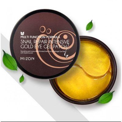 Гидрогелевые патчи с улиточным муцином и золотом Snail Repair Intensive Gold Eye Gel Patch MIZON, 60 шт