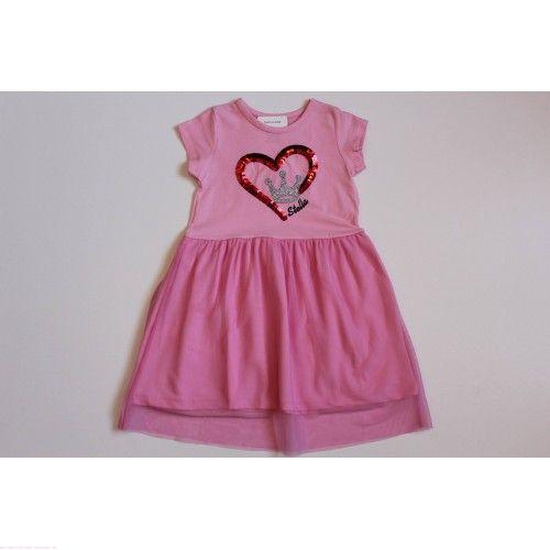 """Платье """"Корона в сердце"""" розовое"""
