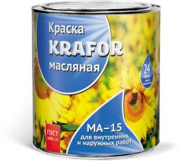 """КРАСКА МА-15 ЗЕЛЕНАЯ  0,9 КГ (14) """"KRAFOR"""""""