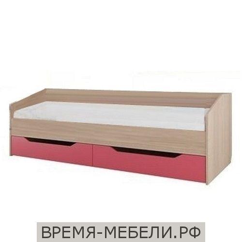 Кровать одинарная (с ящиками) (без матраца 0,8*2,0) Сити 1