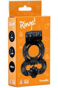 Виброкольцо эрекционное Lola Toys Rings Treadle черное