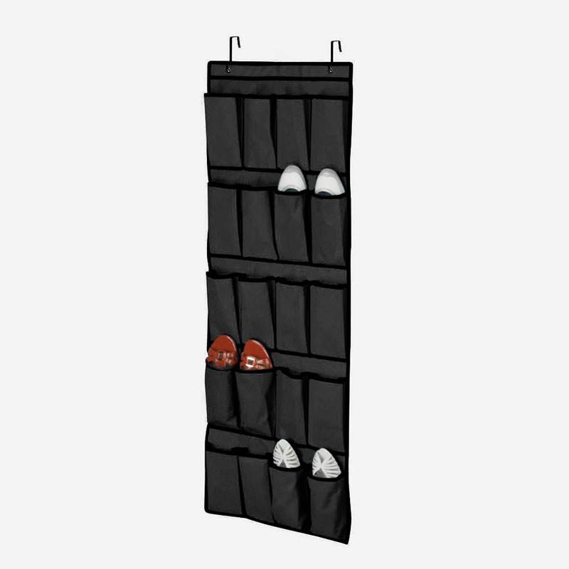 Подвесной органайзер для обуви SHOE ORGANIZER, 20 кармашков, цвет черный