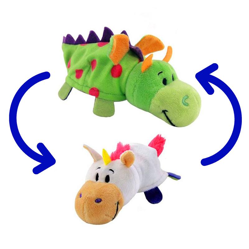 Игрушка-Перевертыш 2в1 Дракон-Единорог