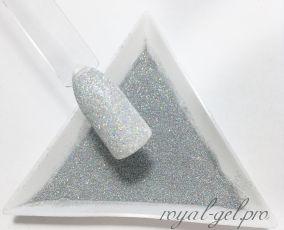 """Шиммер 1/256""""(0.1mm)004 LB100(Laser Silver)"""