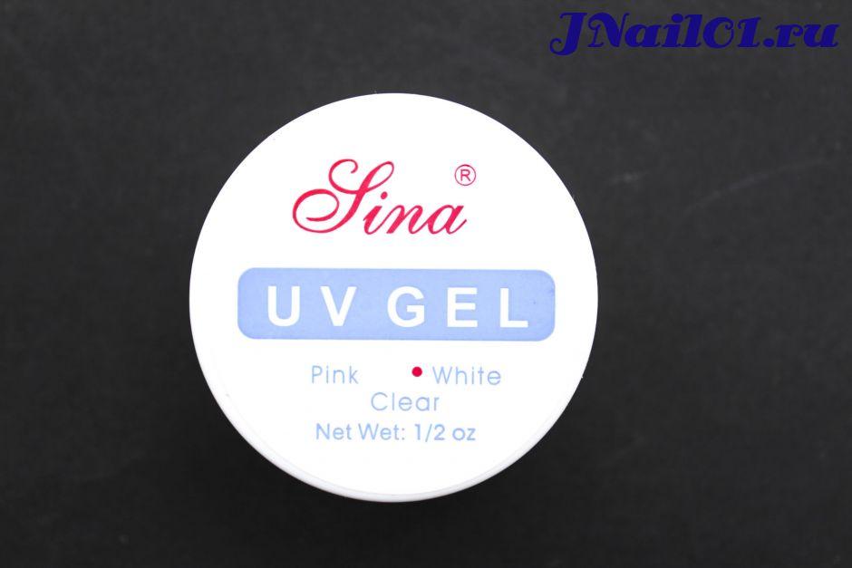 Белый УФ-гель для наращивания ногтей Jina