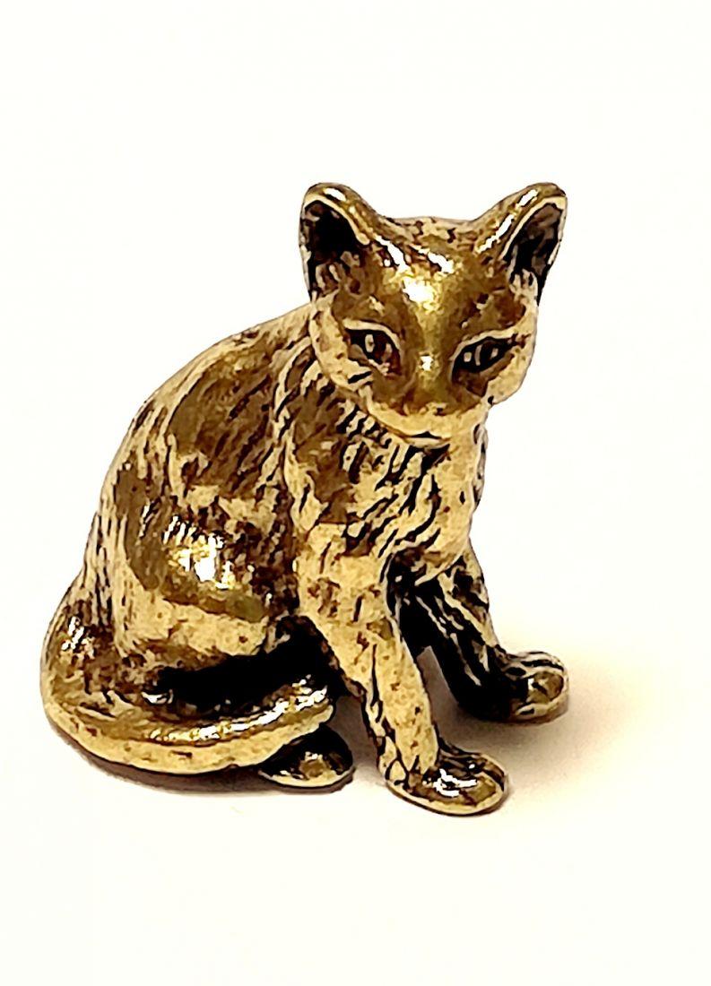 Фигурка Котёнок Латунь