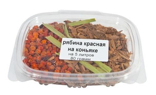 Рябина красная на коньяке, 80 гр