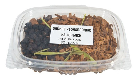 Рябина черноплодная на коньяке, 80 гр