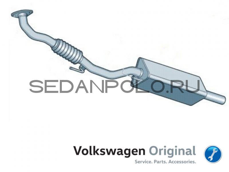 Приемная труба Volkswagen Polo Sedan CFNA/CFNB 1.6