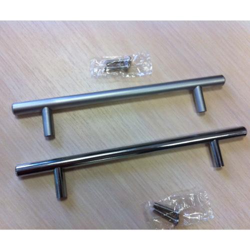 Ручка рейлинг D10 мм центр 96 общий 156, матовый хром