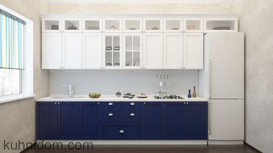 Кухня Бетти Бело-Синяя