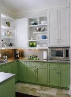Кухня Бетти Бело-Зеленая