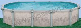 """Бассейн """"Гибралтар"""" 7,3 х 3,7 h1,32"""