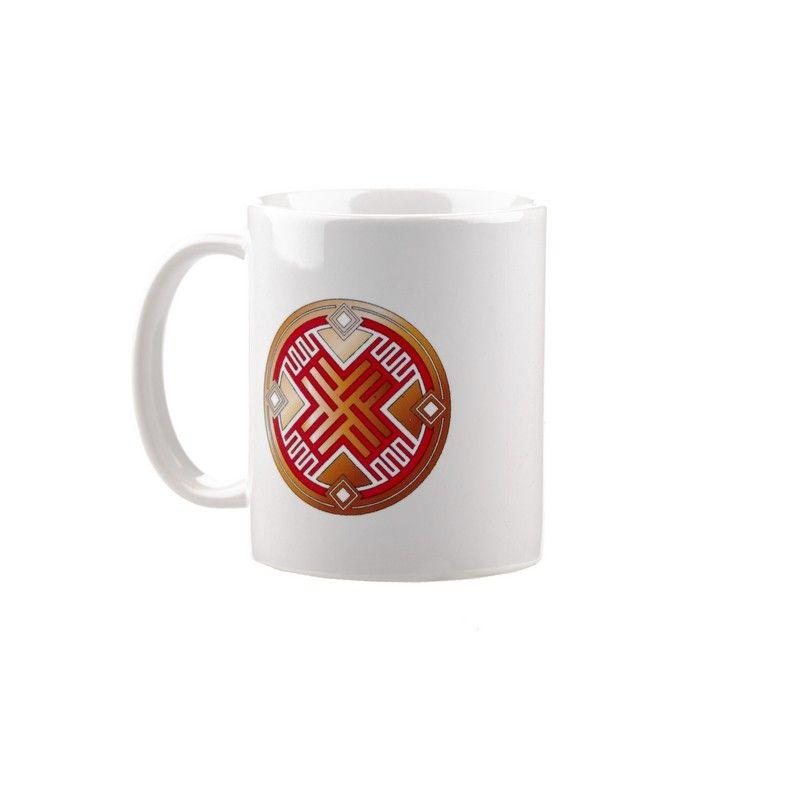 """Коллекционная сувенирная кружка с обережным символом """"Путник"""""""