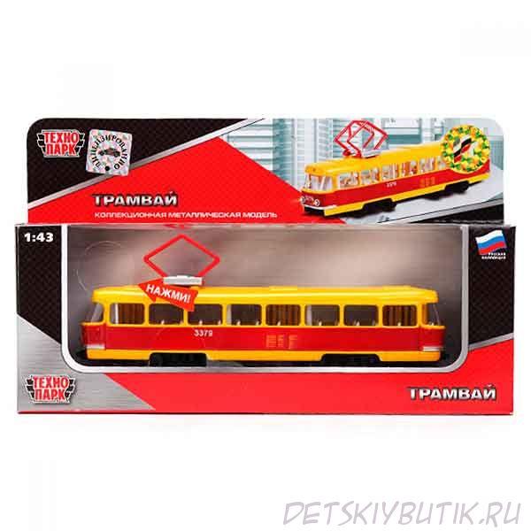 Инерционная игрушка - Трамвай, Технопарк