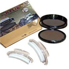 Набор теней для бровей с двумя штампами Kylie Quick Makeup Eyebrow, Оттенок: 02 Тёмно-коричневый