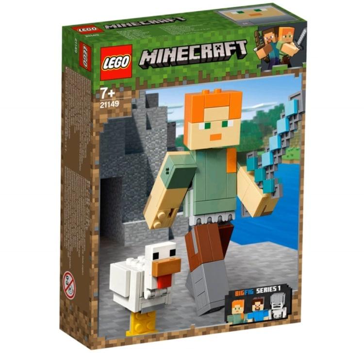 Большие фигурки Minecraft, Алекс с цыплёнком. Конструктор ЛЕГО Майнкрафт 21149