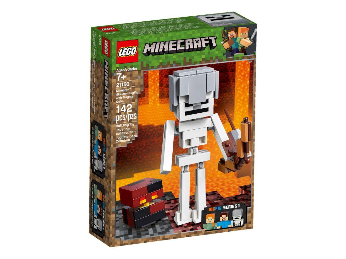 Большие фигурки Minecraft, Cкелет с кубом магмы. Конструктор ЛЕГО Майнкрафт 21150