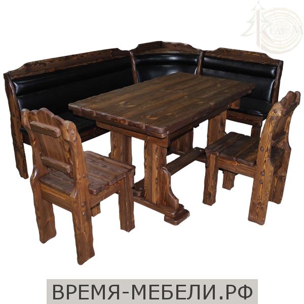 """Кухонный комплект (уголок, стол """"Купец"""", 2 стула)"""