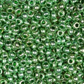 Бисер чешский 18556 зелёный металлик Preciosa 1 сорт