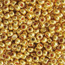 Бисер чешский 18581 золотой металлик Preciosa 1 сорт