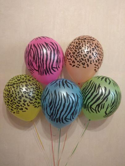 Джунгли (Сафари) Неоновые латексные шары с гелием