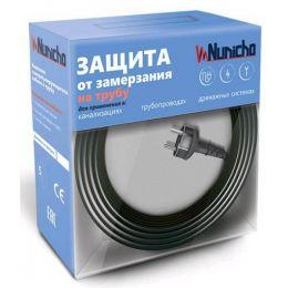 Готовый комплект кабеля NUNICHO снаружи трубы 16 Вт/м - 4 метра.+ (холодный ввод  с вилкой- 2 метра).